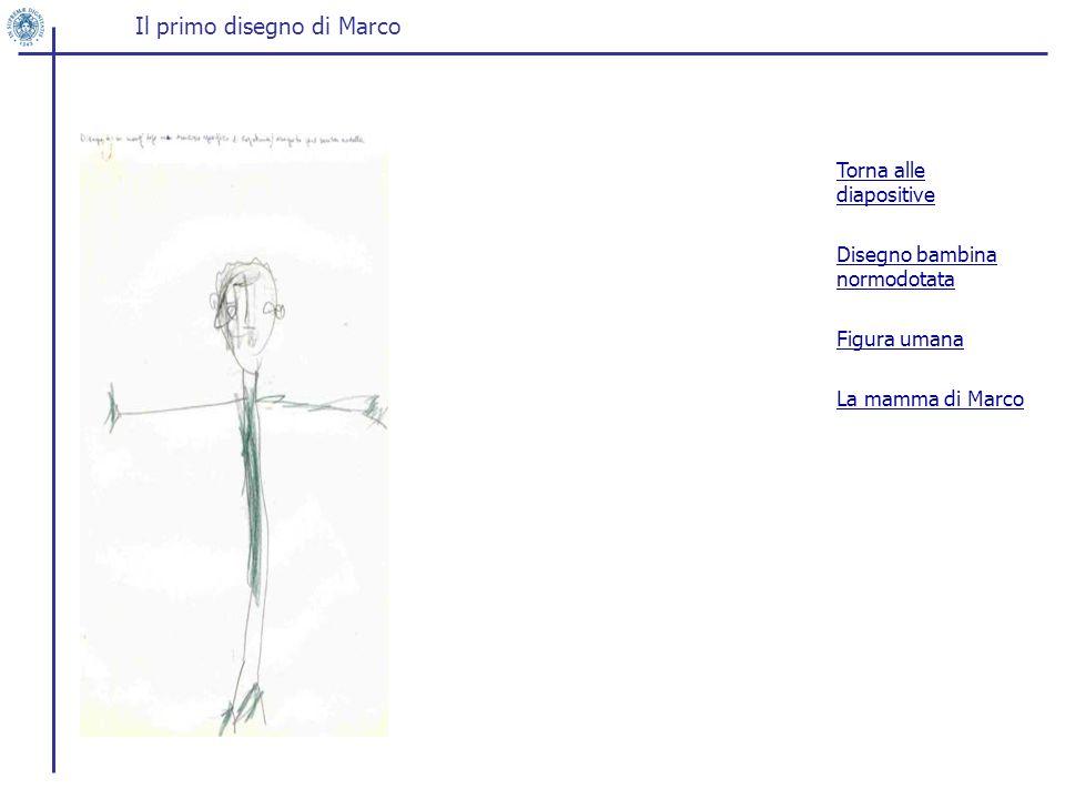 Il primo disegno di Marco Torna alle diapositive Disegno bambina normodotata Figura umana La mamma di Marco