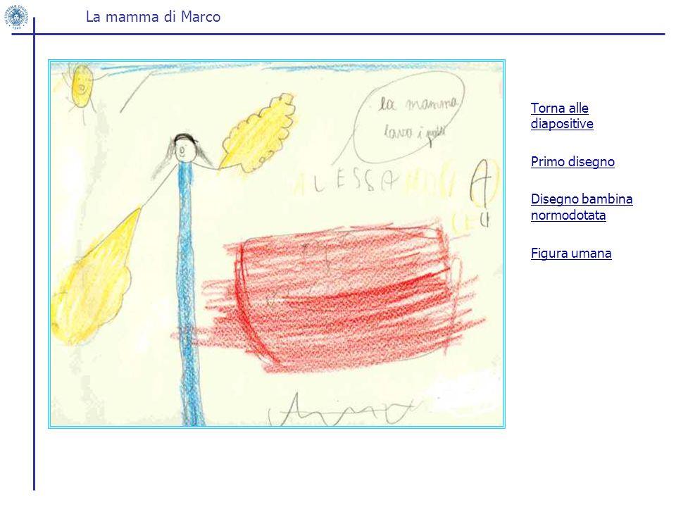Torna alle diapositive Primo disegno Disegno bambina normodotata Figura umana