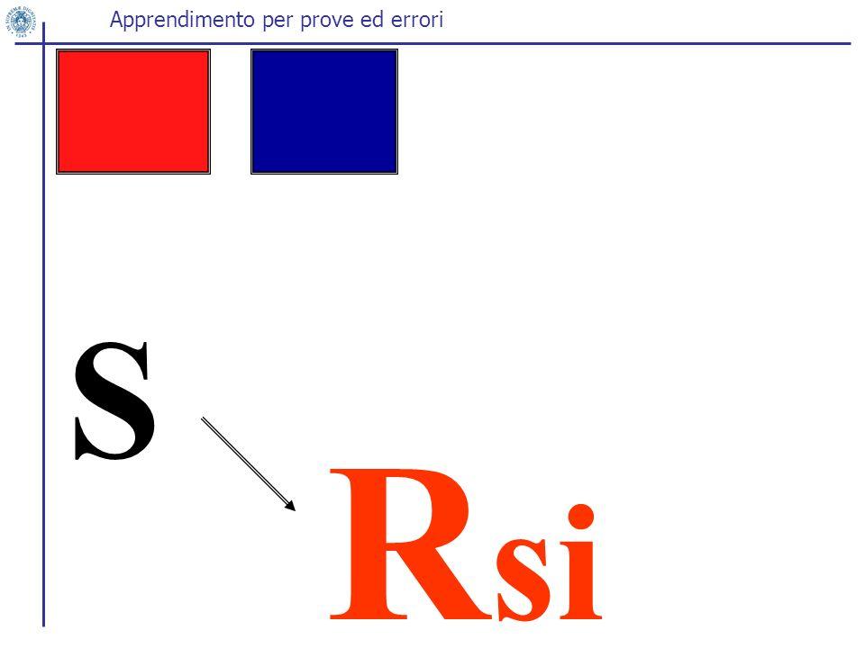 S R si Apprendimento per prove ed errori