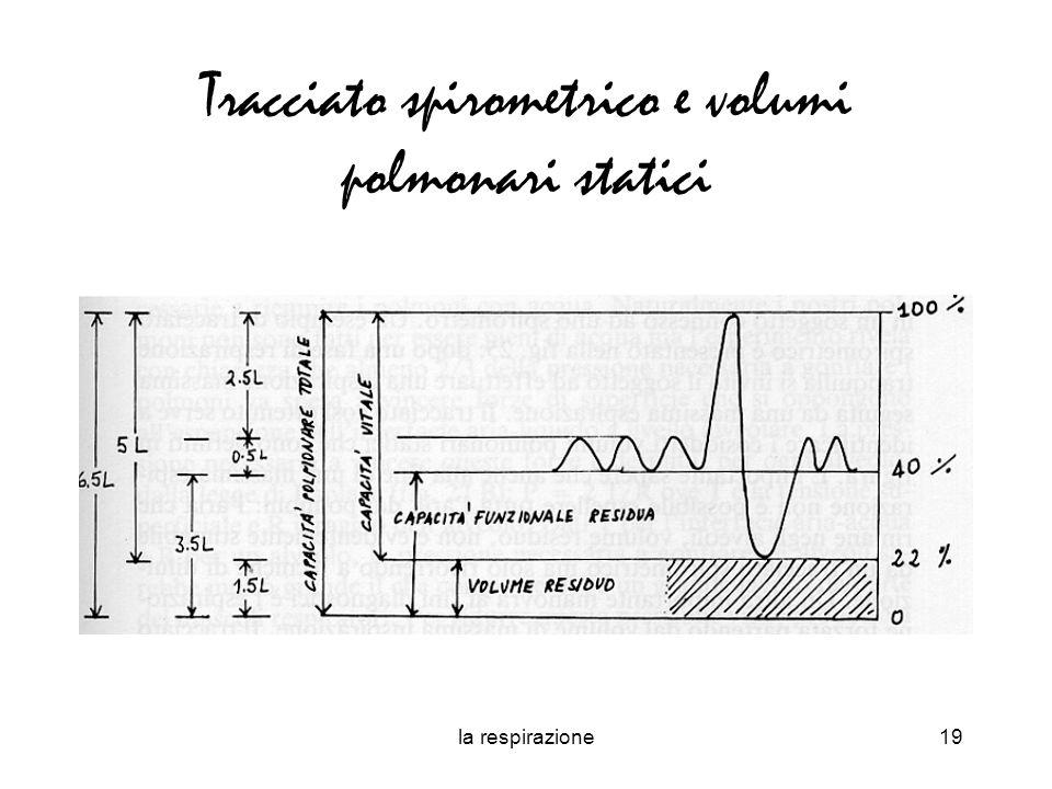 la respirazione19 Tracciato spirometrico e volumi polmonari statici