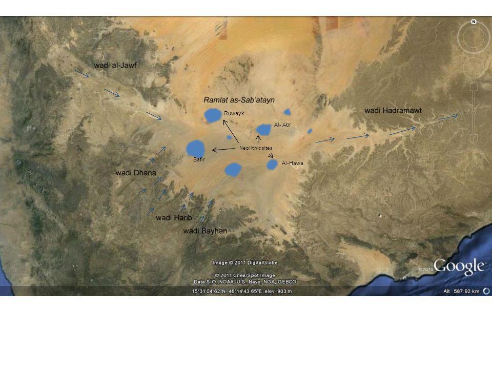 Neolithic sites Al-Abr Ruwayk Al-Hawa Safir