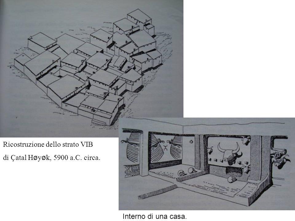 Ricostruzione dello strato VIB di Çatal Høyøk, 5900 a.C. circa. Interno di una casa.