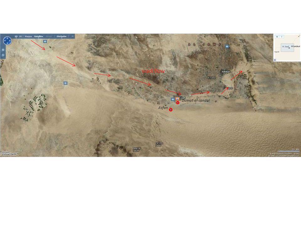 wadi flow Dumat al-Jandal Asfan