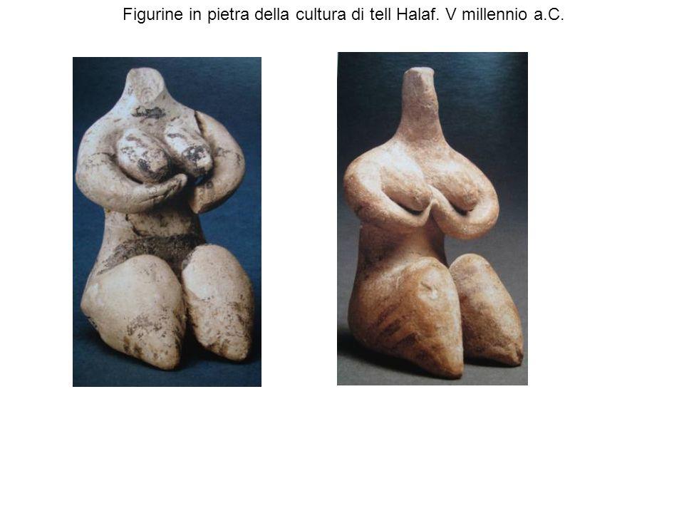 Figurine in pietra della cultura di tell Halaf. V millennio a.C.