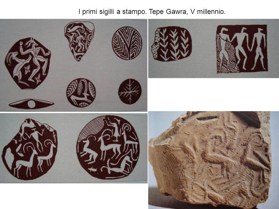 I primi sigilli a stampo. Tepe Gawra, V millennio.