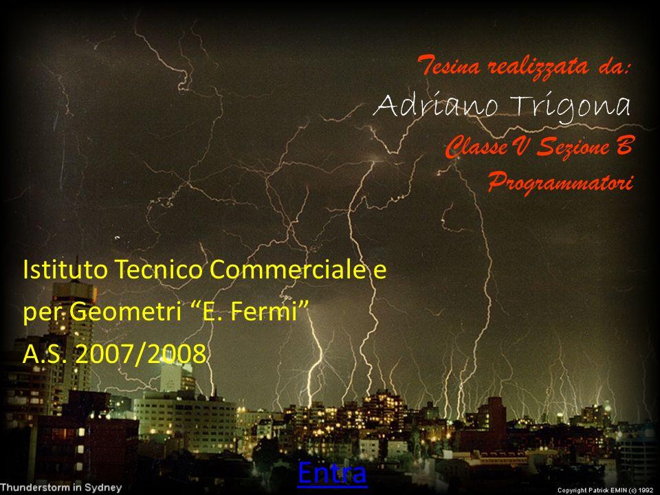 Tesina realizzata da: Adriano Trigona Classe V Sezione B Programmatori Istituto Tecnico Commerciale e per Geometri E. Fermi A.S. 2007/2008 Entra