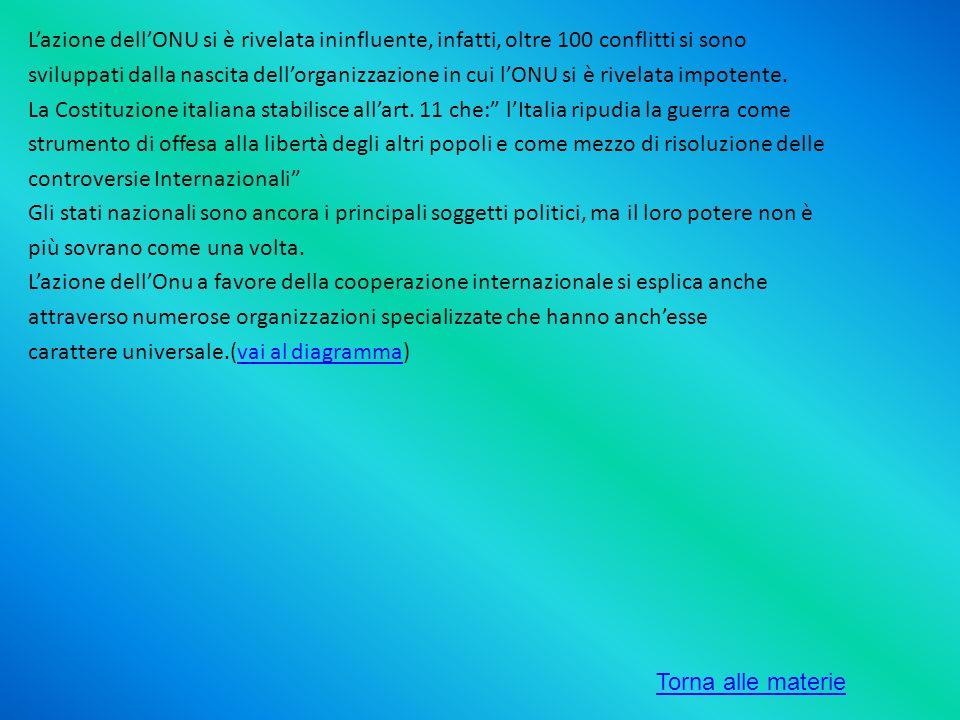 Lazione dellONU si è rivelata ininfluente, infatti, oltre 100 conflitti si sono sviluppati dalla nascita dellorganizzazione in cui lONU si è rivelata
