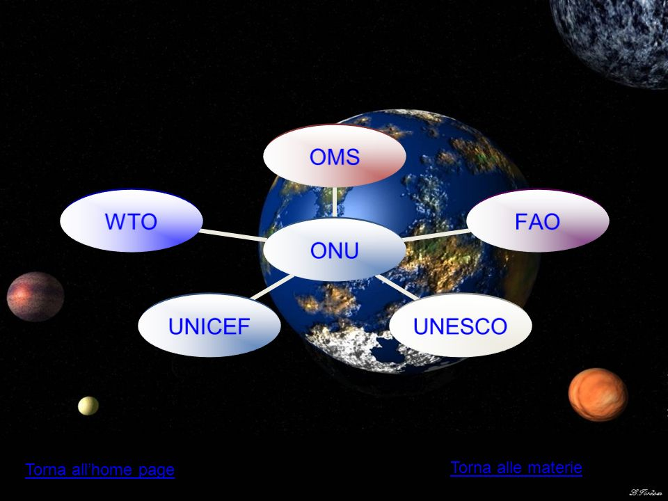 ONU OMSFAOUNESCOUNICEFWTO Torna alle materie Torna allhome page
