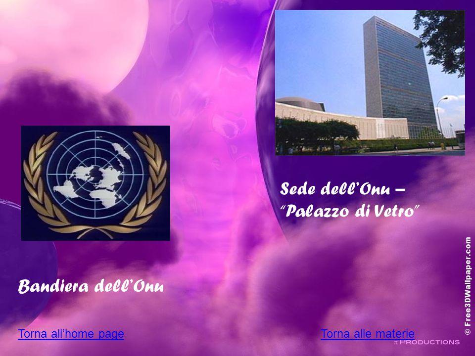 Bandiera dellOnu Sede dellOnu – Palazzo di Vetro Torna allhome pageTorna alle materie