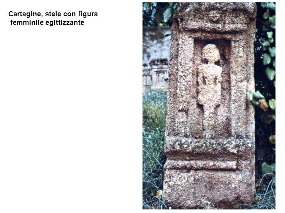 Cartagine, stele con figura femminile egittizzante