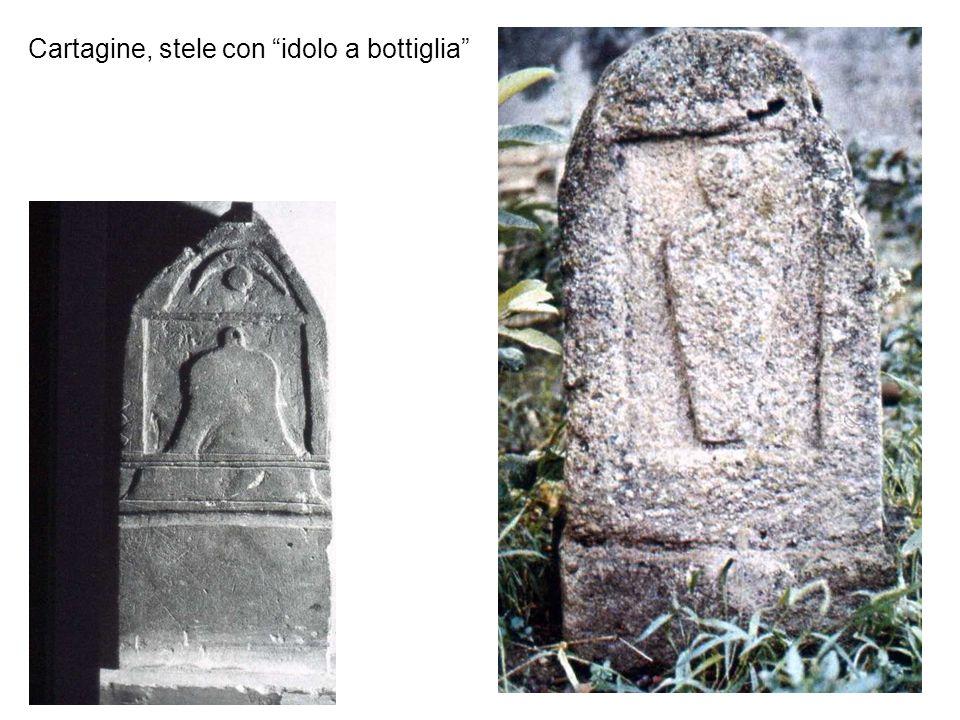 Cartagine, stele con idolo a bottiglia