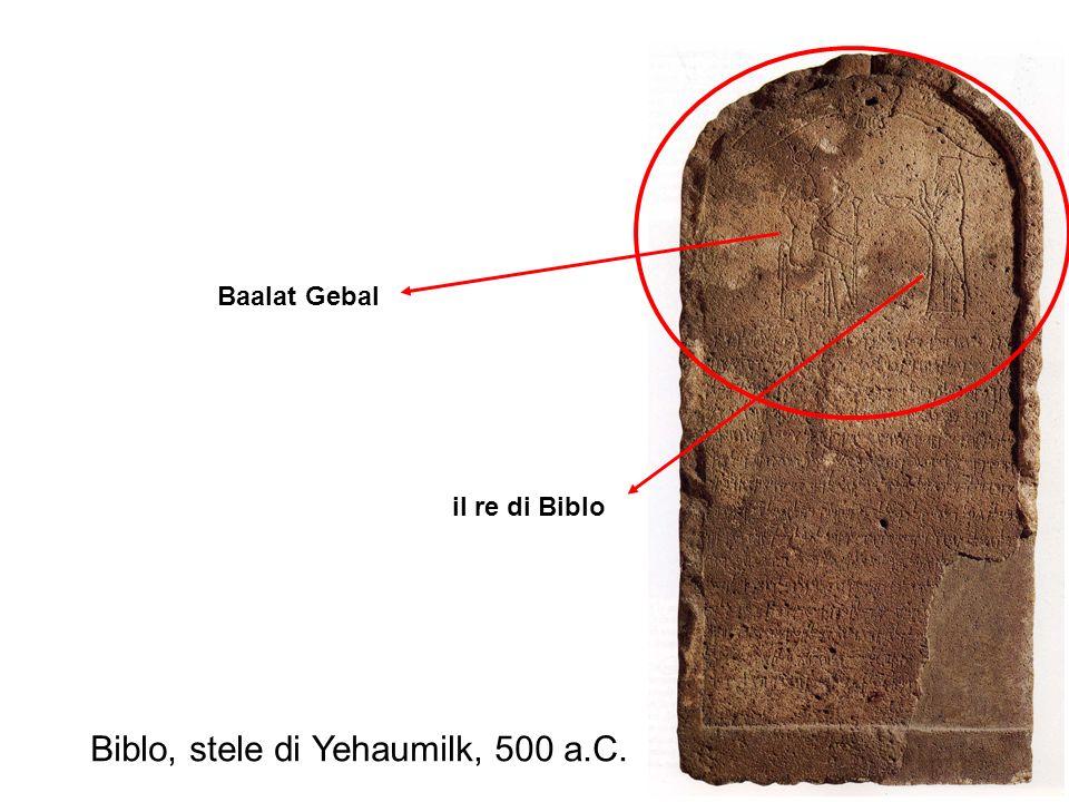 Biblo, stele di Yehaumilk, 500 a.C. Baalat Gebal il re di Biblo