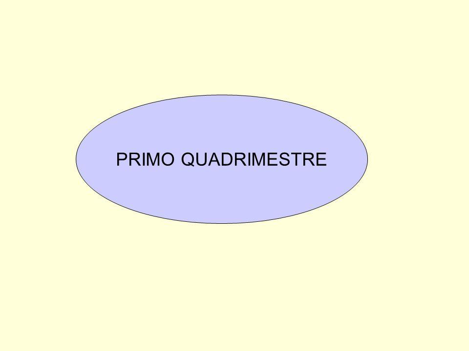 PRIMO QUADRIMESTRE