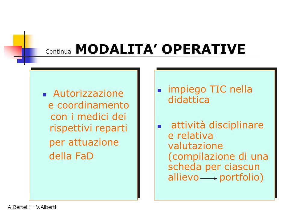 Autorizzazione e coordinamento con i medici dei rispettivi reparti per attuazione della FaD Autorizzazione e coordinamento con i medici dei rispettivi