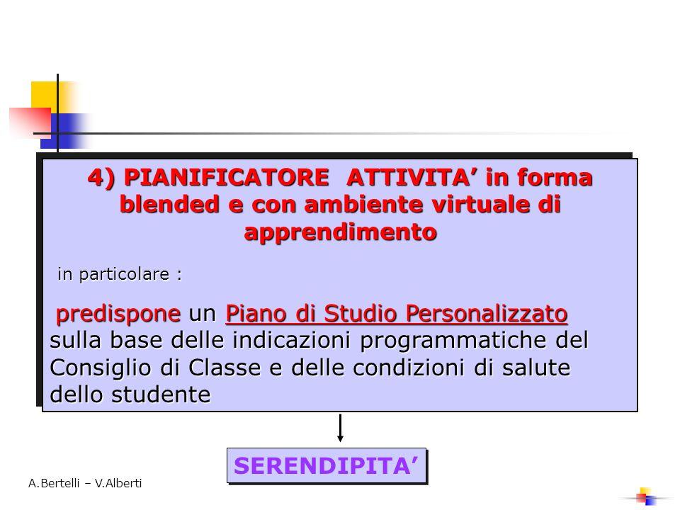 4) PIANIFICATORE ATTIVITA in forma blended e con ambiente virtuale di apprendimento in particolare : in particolare : predispone un Piano di Studio Pe