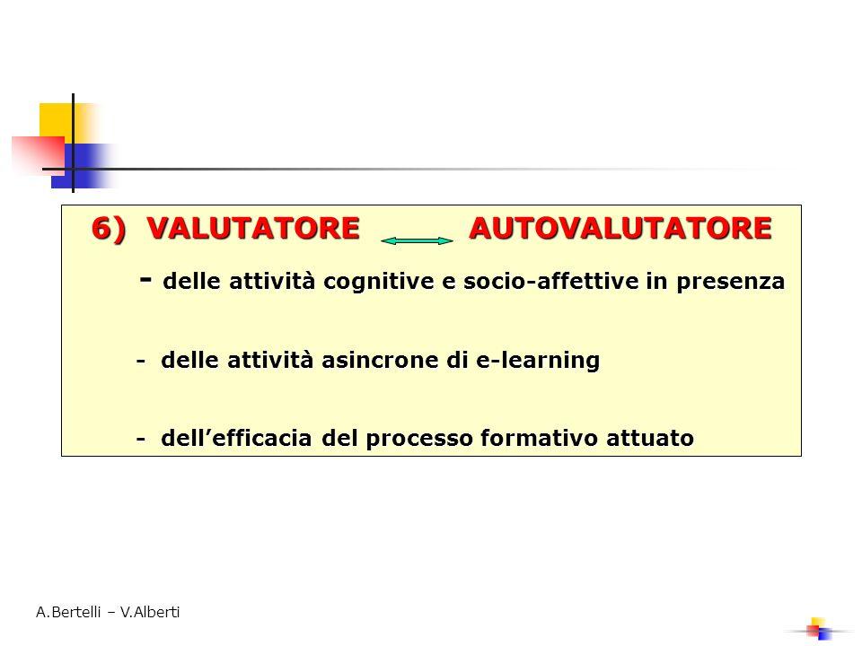 6) VALUTATORE AUTOVALUTATORE - delle attività cognitive e socio-affettive in presenza - delle attività cognitive e socio-affettive in presenza - delle