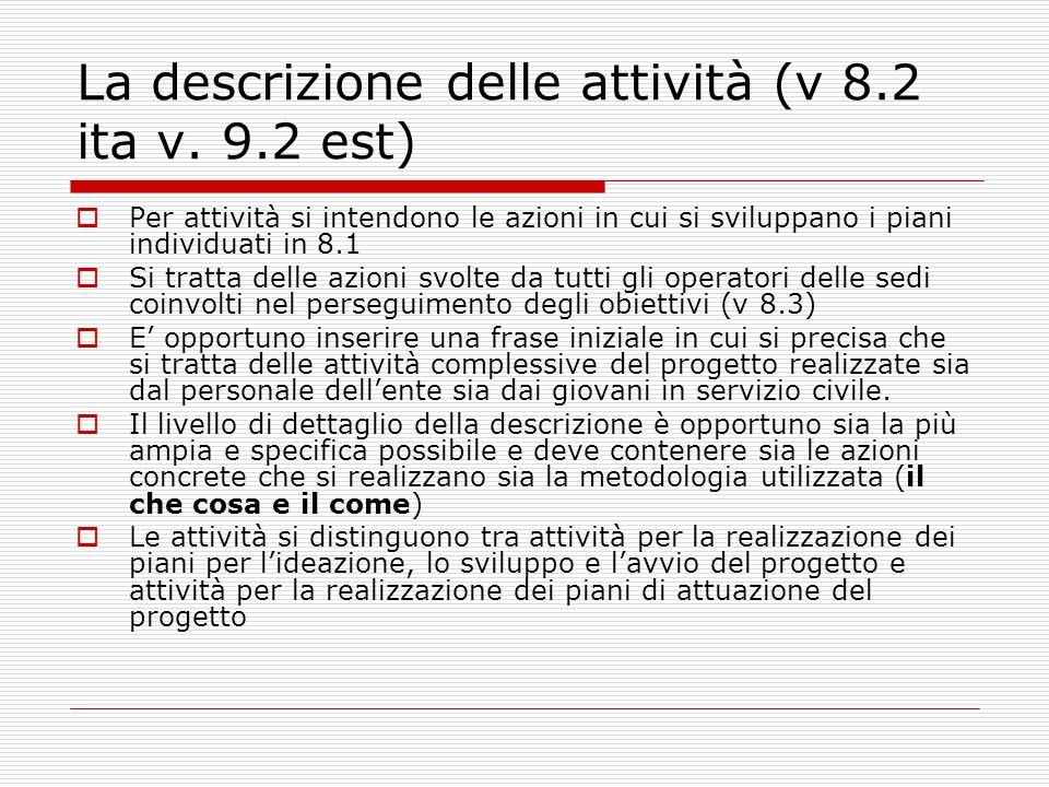 La descrizione delle attività (v 8.2 ita v.