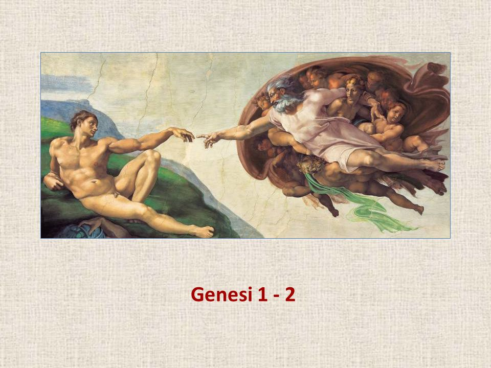 hablaremos de Genesi 1 - 2