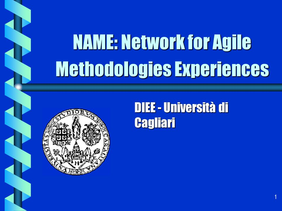 1 NAME: Network for Agile Methodologies Experiences DIEE - Università di Cagliari
