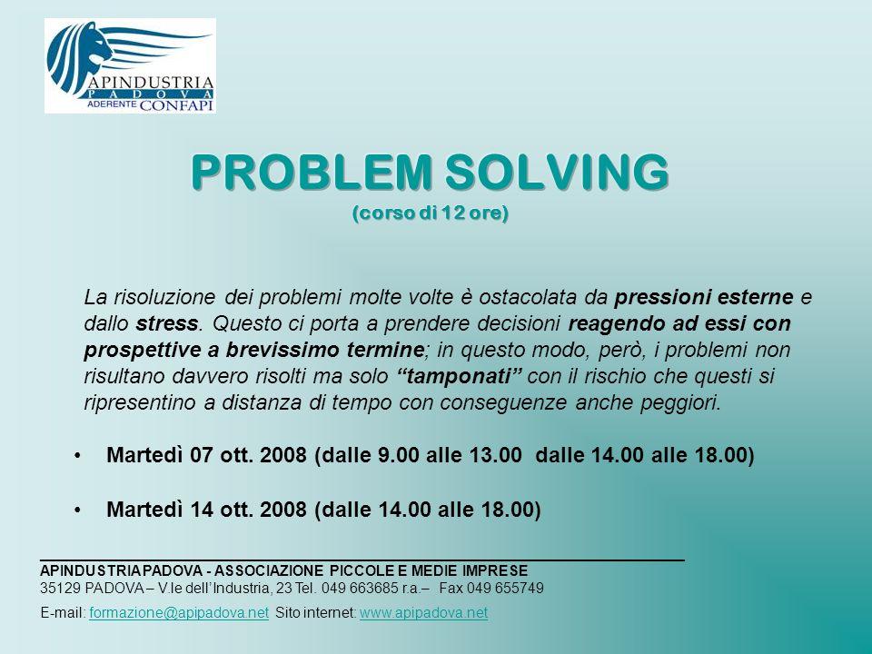 La risoluzione dei problemi molte volte è ostacolata da pressioni esterne e dallo stress.