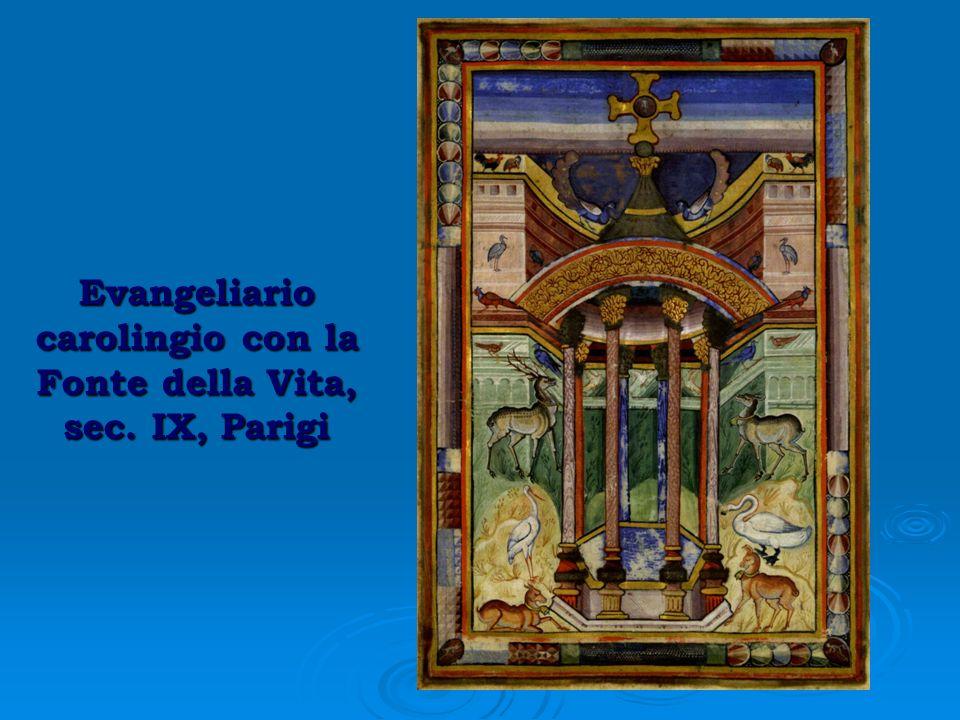 Evangeliario carolingio con la Fonte della Vita, sec. IX, Parigi
