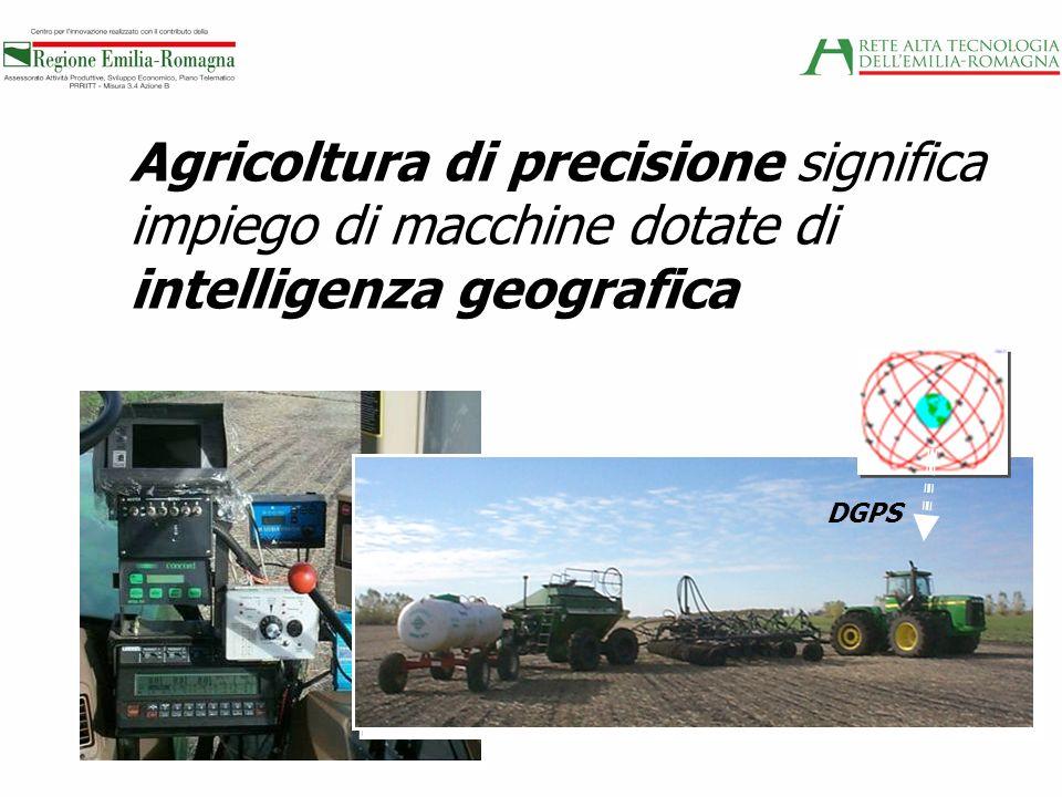 Agricoltura di precisione significa impiego di macchine dotate di intelligenza geografica DGPS