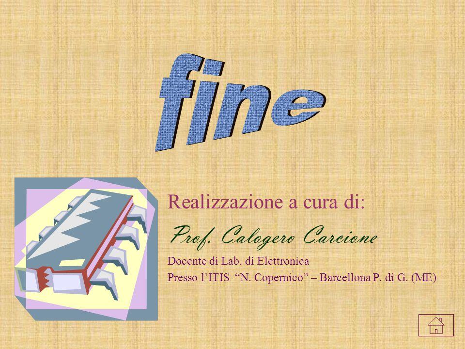 Realizzazione a cura di: Prof.Calogero Carcione Docente di Lab.