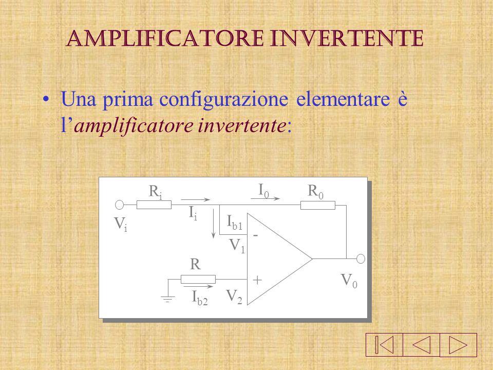 Da notare che lamplificatore operazionale è un circuito integrato analogico che ha: -ingresso differenziale Vd=V+ - V- e Vo=A Vd -amplificazione molto