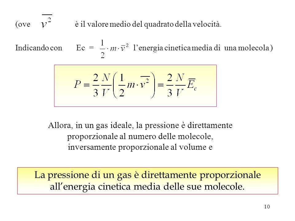 9 e le tre componenti v x, v y, v z sono mediamente equivalenti, cioè, ogni direzione è ugualmente probabile, (teorema di Pitagora) avremo Siccome v x