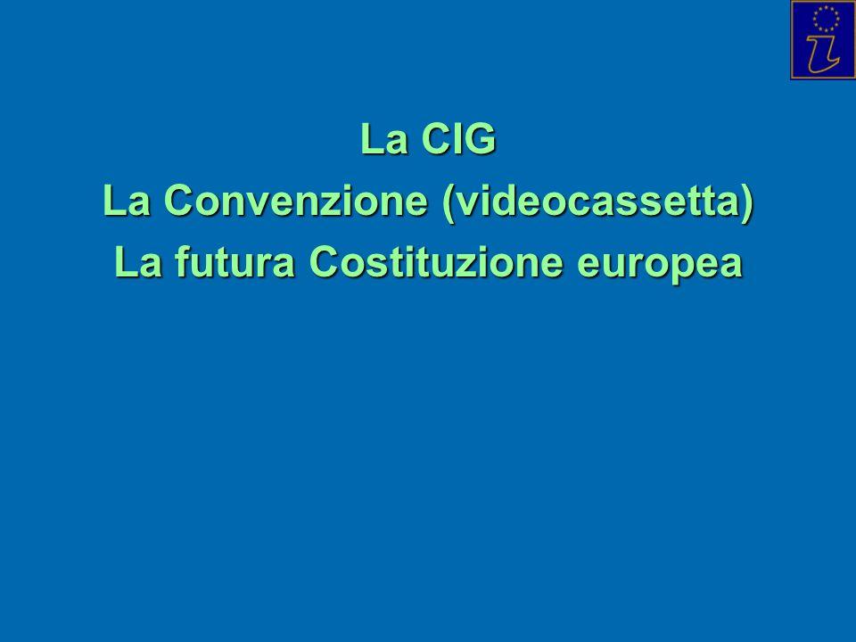 La CIG La Convenzione (videocassetta) La futura Costituzione europea