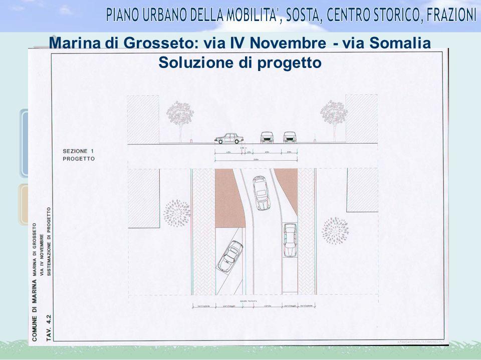 Marina di Grosseto: via IV Novembre - via Somalia Soluzione di progetto