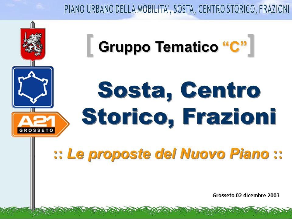 [ Gruppo Tematico C ] Sosta, Centro Storico, Frazioni :: Le proposte del Nuovo Piano :: Grosseto 02 dicembre 2003