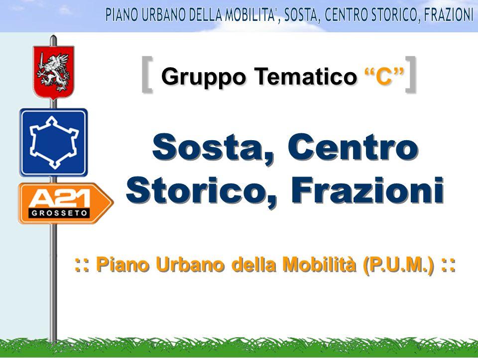 [ Gruppo Tematico C ] Sosta, Centro Storico, Frazioni :: Piano Urbano della Mobilità (P.U.M.) ::