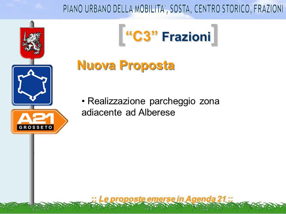 [ C3 Frazioni ] :: Le proposte emerse in Agenda 21 :: Nuova Proposta Realizzazione parcheggio zona adiacente ad Alberese