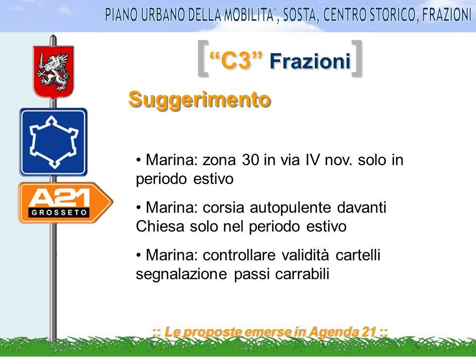 [ C3 Frazioni ] :: Le proposte emerse in Agenda 21 :: Suggerimento Marina: zona 30 in via IV nov.