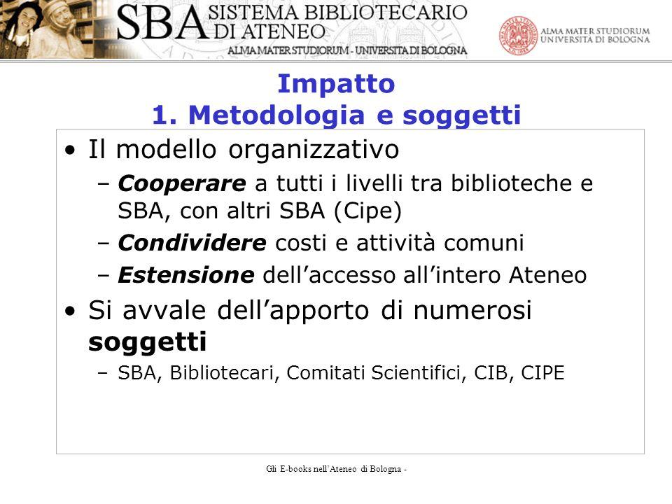 Gli E-books nellAteneo di Bologna - Impatto 1.