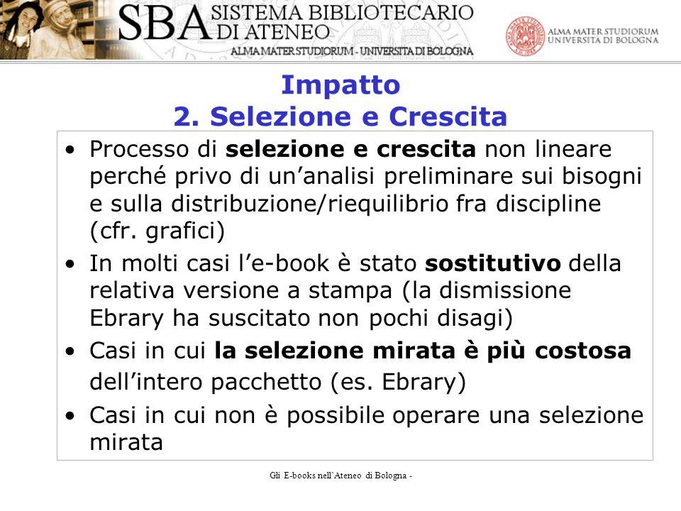 Gli E-books nellAteneo di Bologna - Impatto 2.