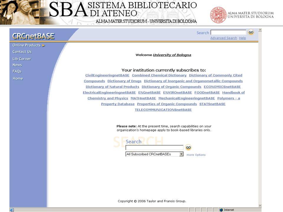 Gli E-books nellAteneo di Bologna -