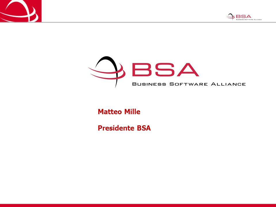 Matteo Mille Presidente BSA