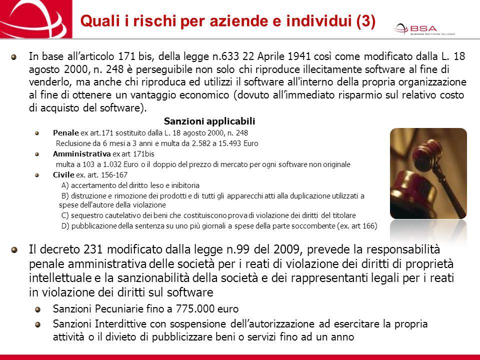 Per saperne di piu... Business Software Alliance (BSA) www.bsa.org/italy