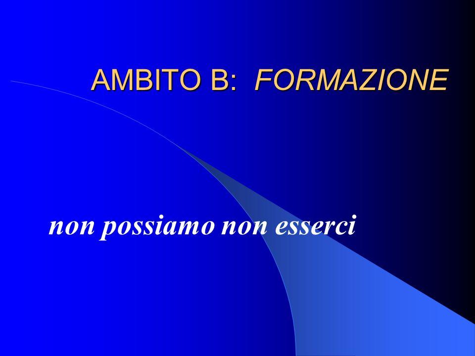 AMBITO B: FORMAZIONE non possiamo non esserci