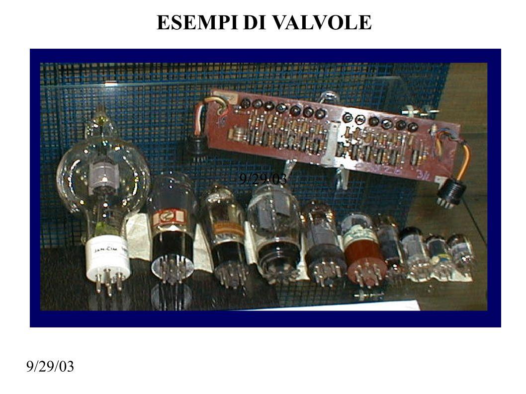 ESEMPI DI VALVOLE 9/29/03