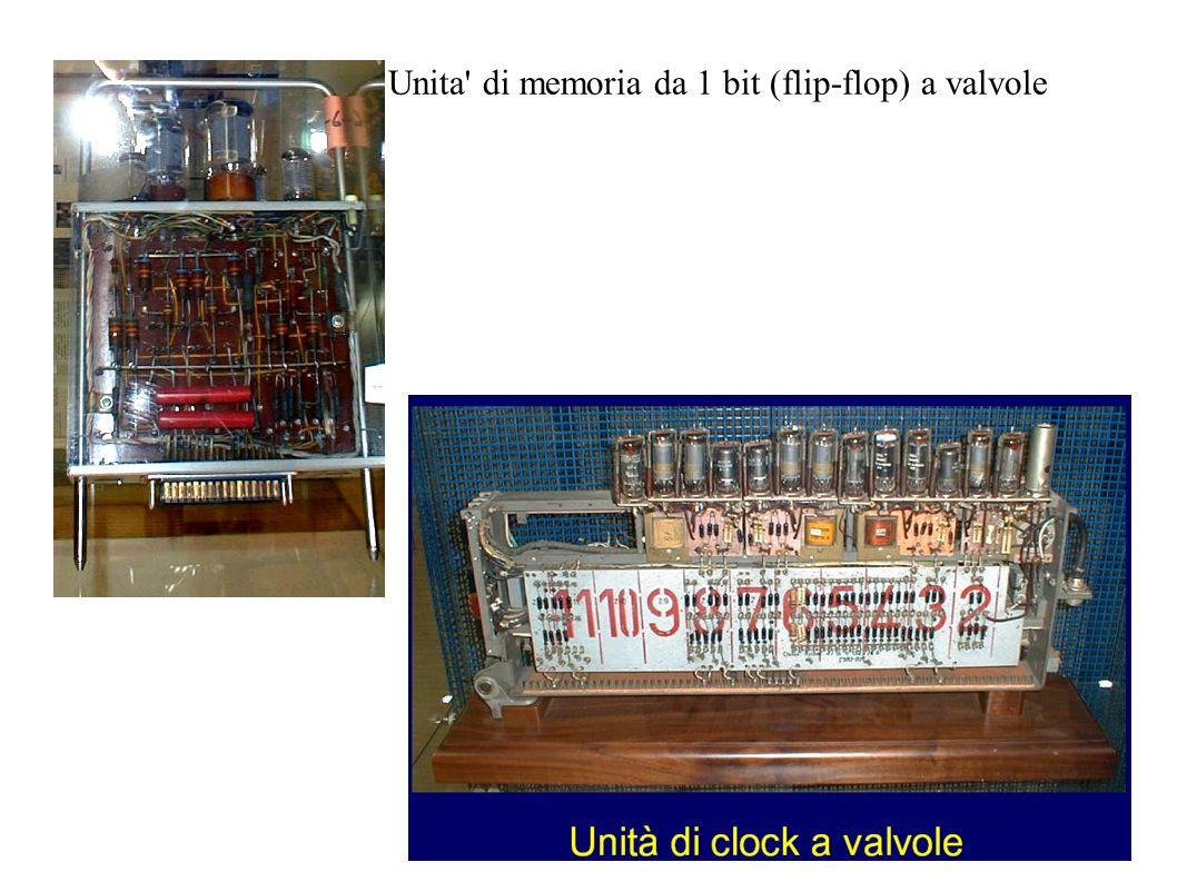 Unita' di memoria da 1 bit (flip-flop) a valvole