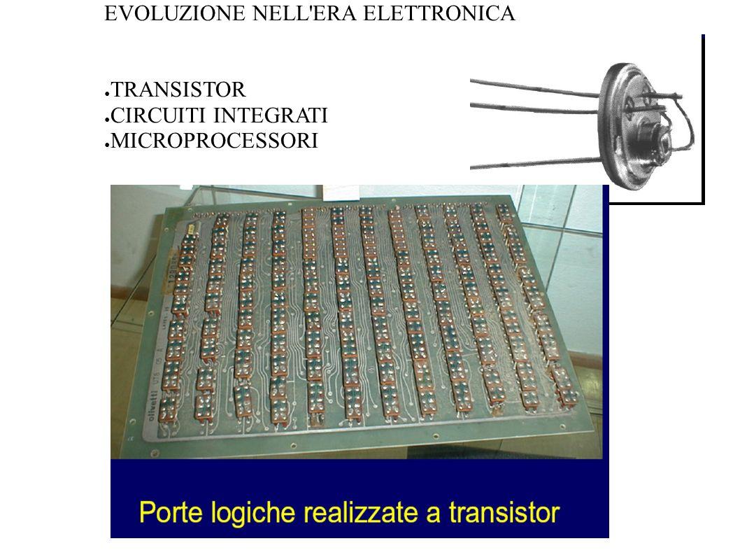EVOLUZIONE NELL'ERA ELETTRONICA TRANSISTOR CIRCUITI INTEGRATI MICROPROCESSORI