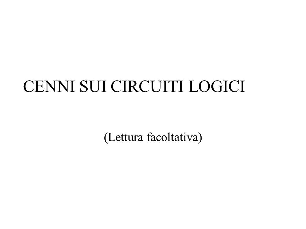 CENNI SUI CIRCUITI LOGICI (Lettura facoltativa)