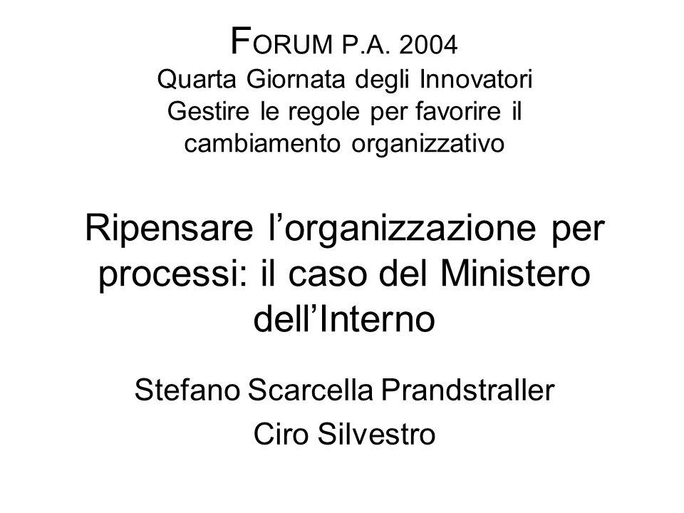 La nuova struttura organizzativa del Ministero dellInterno e degli Uffici Territoriali di Governo FONTI NORMATIVE: D.lgs.