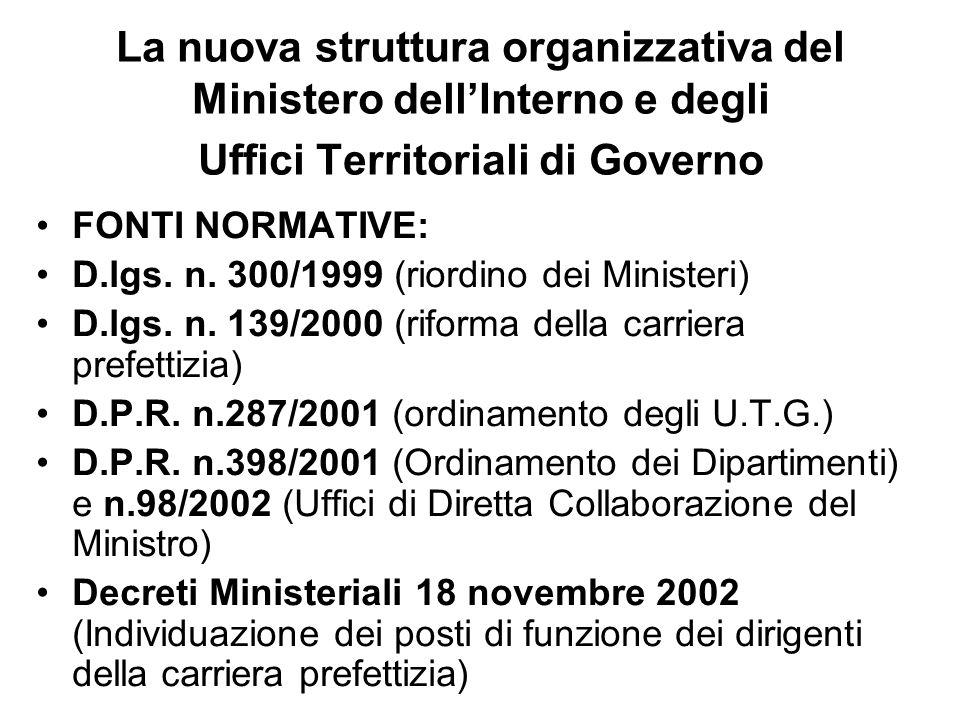 I Decreti Ministeriali 18 novembre 2002 1.