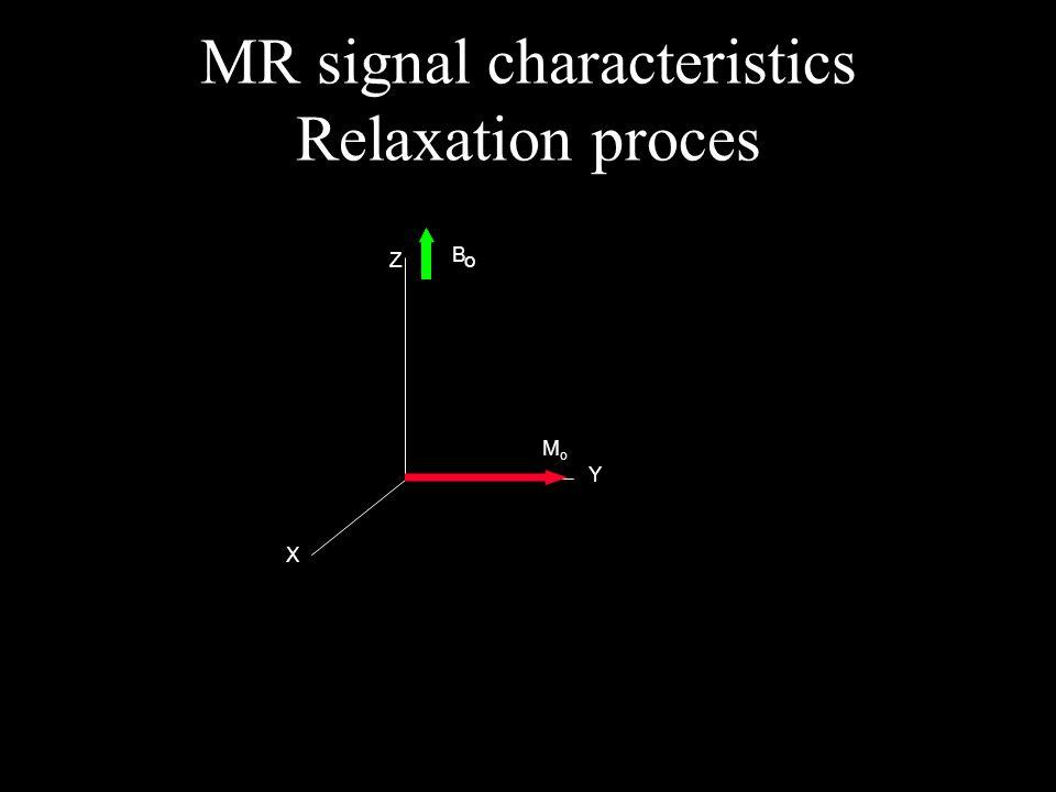 X Y Z B o MoMo MR signal characteristics Relaxation proces