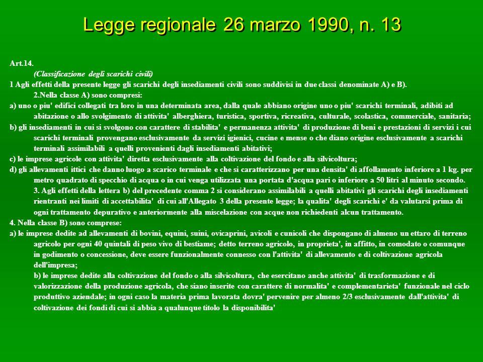 Legge regionale 26 marzo 1990, n. 13 Art.14.