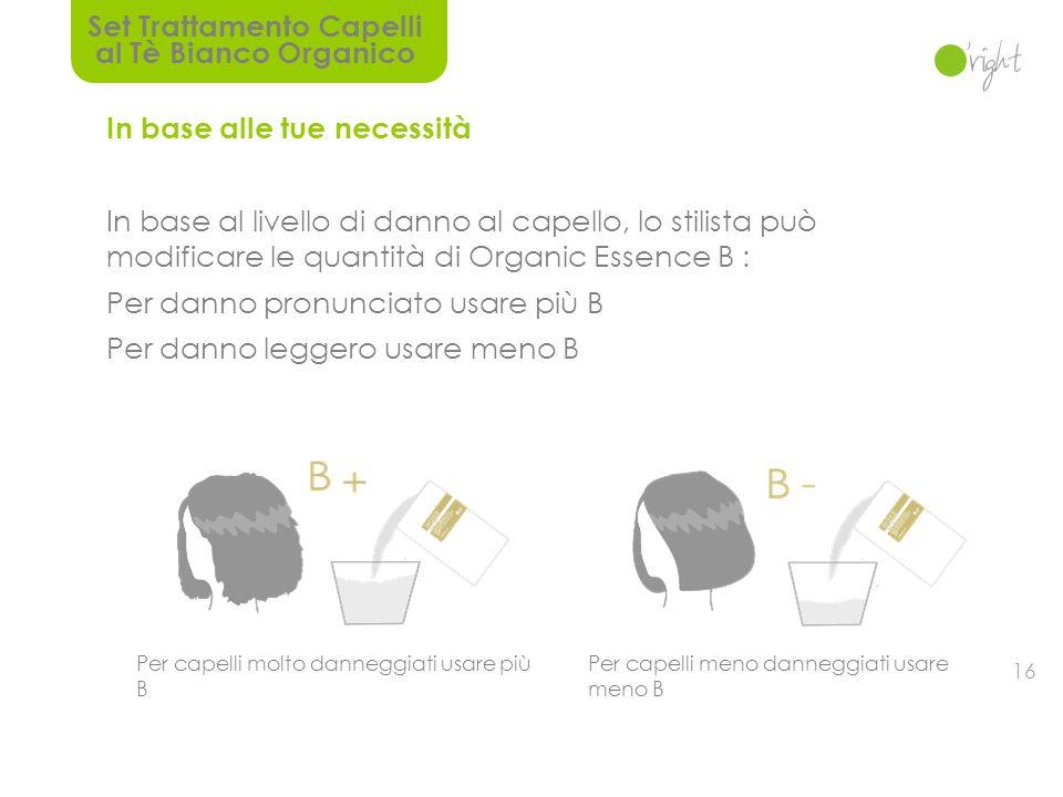 15 Operazione semplice con risultati professionali Dividiamo il trattamento in Repair Cream A & Organic Essence B.